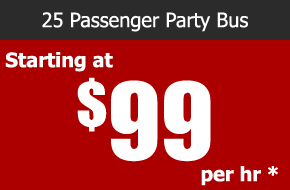 paramount 25 passenger party bus rental