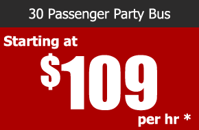 surfside 30 passenger party bus rental