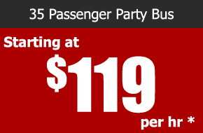 surfside 35 passenger party bus rental